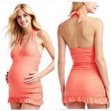 Jessica Simpson Swim   Jessica Simpson Coral Maternity One Piece Swimsuit   Color: Orange/Pink   Size: Mm