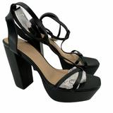Free People Shoes | New Free People Black T-Strap High Platform Sandal | Color: Black | Size: 9 Runs 12 Size Small