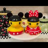 Disney Toys   Disney Mickey & Minnie Mouse Rubber Duck Bath Toys   Color: Red/Yellow   Size: Osbb