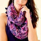 Lilly Pulitzer Accessories | Lilly Pulitzer Resort Infinity Loop Scarf | Color: Blue/Pink | Size: Os