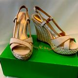 Lilly Pulitzer Shoes   Lilly Pulitzer Ashley Wedge Canvas Size 8   Color: Cream/Tan   Size: 8