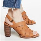 Madewell Shoes   Madewell The Cindy Woven High Heeled Sandals   Color: Brown/Tan   Size: 11