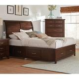 Canora Grey Oehler Low Profile Storage Sleigh Bed Metal in Brown, Size 64.75 W x 91.25 D in | Wayfair 3D19E2EF98AC4987A0A8899798D839A6