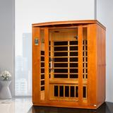 Dynamic Infrared 3 - Person Indoor Bluetooth Compatible FAR Infrared Sauna in Hemlock in Brown, Size 75.0 H x 44.0 W x 64.0 D in | Wayfair