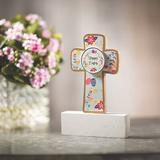 The Holiday Aisle® Happy Easter Cross Tabletop Decoration - Home Decor - 1 Piece Wood in Brown, Size 2.3 H x 5.9 W x 7.8 D in | Wayfair