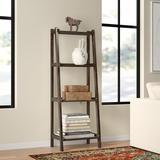 Red Barrel Studio® Bernardston Ladder Bookcase Wood in Brown/Green, Size 60.0 H x 22.0 W x 14.0 D in   Wayfair 88E9BAC780BF437B816B202C32FE13BD