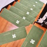 Red Barrel Studio® 5 Pieces Stair Treads Luminous Four-Leaf Non-Slip Carpet Indoor Carpet Stair Tread Treads Stair Rugs Mats Rubber Backing Polyester