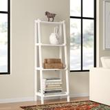 Red Barrel Studio® Bernardston Ladder Bookcase Wood in White, Size 60.0 H x 22.0 W x 14.0 D in   Wayfair 229BECEBA5FF4DA58C396BE2B693EE55