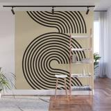 Wall Mural | 70s Style Retro Mid Century Modern Art Abstract Minimalist Geometrical Neutral Earthy Tones by Inogitnadesigns - 8' X 8' - Society6