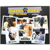 """Boston Bruins 2021 Pucks & Pups Calendar"""