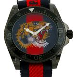 Gucci Accessories   New Auth. Gucci Mens Swiss Made Dive Nylon Watch   Color: Black/Red   Size: 45mm