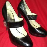 Michael Kors Shoes   Michael Kors High Heel Leather High Heel Shoes   Color: Black   Size: 6