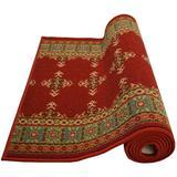 Charlton Home® Runner Eamonn Southwestern Tufted Red Area Rug Nylon in White, Size 36.0 W x 0.3 D in | Wayfair 28741BA421254D5498B6ADDFD7415278