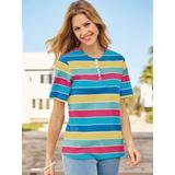 Women's Striped Knit Top, Sunshine Stripe L Misses