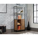 Modern Open Shelf Bookcase with Door - Sauder 427971