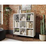 White 9-Cube Cubby Organizer Bookcase - Sauder 427659