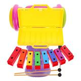 NUOBESTY 1 Set Xylophone Table Music Toys Kids Drum Set Kids Musical Instrument Brick Premium Kindergarten Learning Toys for Baby Infant Toddler Birthday Gifts for Kids