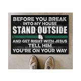 Bestcustom Veteran Before You Break Into My House Indoor and Outdoor Doormat Warm House Gift Welcome Mat Funny Gift for Friend Family Birthday Gift (Indoor & Outdoor Doormat 24x16)
