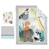 Bedtime Originals Mighty Jungle Animals 3 Piece Crib Bedding Set Polyester, Size 8.0 W in | Wayfair 283003V