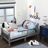 Bedtime Originals Astronaut Snoopy 4 Piece Toddler Bedding Set Polyester in Blue | Wayfair 2560104V
