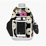 Gallon Gear 1 Gallon Large Water Bottle - BPA Free Plastic, Reusable Water Jug - Hydration Water Bottle for Men and Women - Gym, Sports, Training & Fitness (Transparent w/ Black Donut Cover)