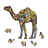 Celina Haydee Camel Wooden Jigsaw Puzzle - Desert Animal Camel Puzzle for Kids and Adult - Camel Puzzle Game - Jigsaw Puzzle Game for Kid 100 Pieces - Training Brain Puzzle Game