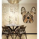 Trinx Boho French Bulldog Decal, Boho French Bulldog Sticker, Boho French Bulldog Wall Decor in Orange/Black/Brown | Wayfair
