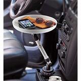 Zone Tech Car Swivel Tray & Storage Bin - Premium Quality 360-degree Swivel Tray & Storage Bin Fits Most Car Cup Holder in Gray | Wayfair TR0004
