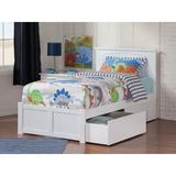 Beachcrest Home™ Graham 2 Drawer Solid Wood Platform Bed Wood in White, Size 41.375 H x 43.625 W x 82.625 D in | Wayfair BCHH7930 41958474