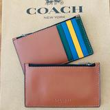 Coach Accessories   Coach Mens Zip Card Case Color Block   Color: Blue/Green/Red/Tan/Yellow   Size: Os