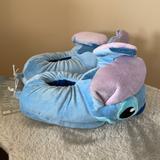 Disney Shoes | Disney Stitch Slipper Childs Size 56 Nwt | Color: Blue/Purple | Size: Unisex 56 Small Child