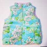 Lilly Pulitzer Jackets & Coats | Lilly Pulitzer Reversible Vest 4-5 | Color: Green/Pink | Size: 4-5