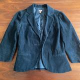 Anthropologie Jackets & Coats   Halogen Fitted Corduroy Navy Blazer Size Small   Color: Blue   Size: S