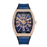 YXBQUEEN Crystal Watch for Men Luxury Business Analog Quartz Watch Waterproof Fashion Business Watch