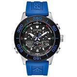 Citizen Eco-Drive Promaster Sailhawk Quartz Mens Watch, Stainless Steel with Polyurethane strap, Dive Watch, Blue (Model: JR4068-01E)