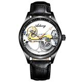 RORIOS Fashion Mens Watches Mechanical Watch with Stainless Steel Band Automatic Self-Winding Wristwatch Waterproof Business Dress Watch for Men