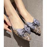 BUTITI Women's Ballet Flats khaki - Khaki & Gray Bow-Accent Pointed-Toe Flat - Women