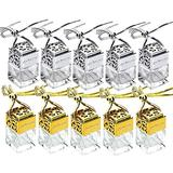 Wakauto Hanging Diffuser Perfume Bottle, 10 Pcs Perfume Bottle Empty Refillable Car Hanging Pendant Perfume Bottle Pendant Perfume Bottle for Man Woman Car(not Include Perfume)