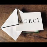 Kate Spade Office   Kate Spade-Nwt Thank You Cards, Merci   Color: Black/White   Size: Os