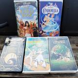 Disney Other | Lot Of 5 Disney Vhs Movies | Color: Silver | Size: Osbb