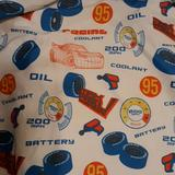 Disney Other | Disney Racing Fitted Crib Sheet | Color: Blue/Red | Size: Crib Fitted