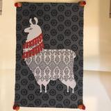 Urban Outfitters Accents | Llama Throw Rug | Color: Gray/Red | Size: 23 X 36 Inches