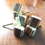 Anthropologie Accents | Drawer Or Cabinet Door Pulls Wood Inlay & Stone | Color: Brown/Orange | Size: 1 Square
