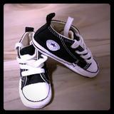 Converse Shoes   Baby Converse Crib Shoes   Color: Black   Size: 3bb