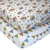 Disney Bedding | Disney Dumbo 2-Pk. Fitted Crib Sheets | Color: Blue/White | Size: 28in.X 52in.