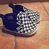 Vans Shoes | Like New Vans Baby Crib Shoes | Color: Black/White | Size: 3bb