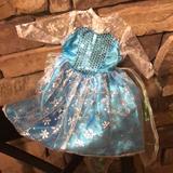 Disney Dresses | Frozen 18 Doll Dress Elsaag Sequins & Zipper | Color: Blue/Silver | Size: Doll Size