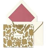 Kate Spade Office   Nib Kate Spade Golden Floral Thank You Card Set   Color: Gold/White   Size: Os