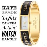 Kate Spade Accessories | Kate Spade Lights Camera Action Watch Bangle | Color: Black/Gold | Size: Os