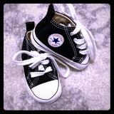 Converse Shoes   Baby Converse Crib Shoes   Color: Black/White   Size: 1bb